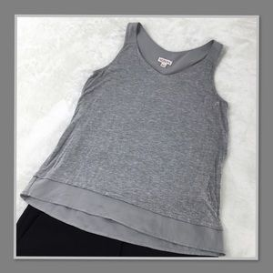 993af1dbf2a9e MERONA WOMENS GRAY LAYERED TANK TOP XS